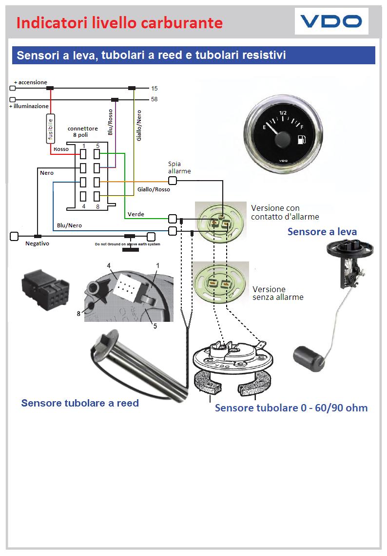 Schema Elettrico Galleggiante Serbatoio : Vdo sensori di livello a leva regolabili ohm