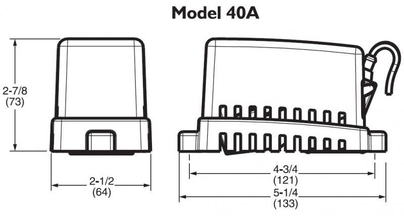 interruttore automatico galleggiante rule a matic 40a con