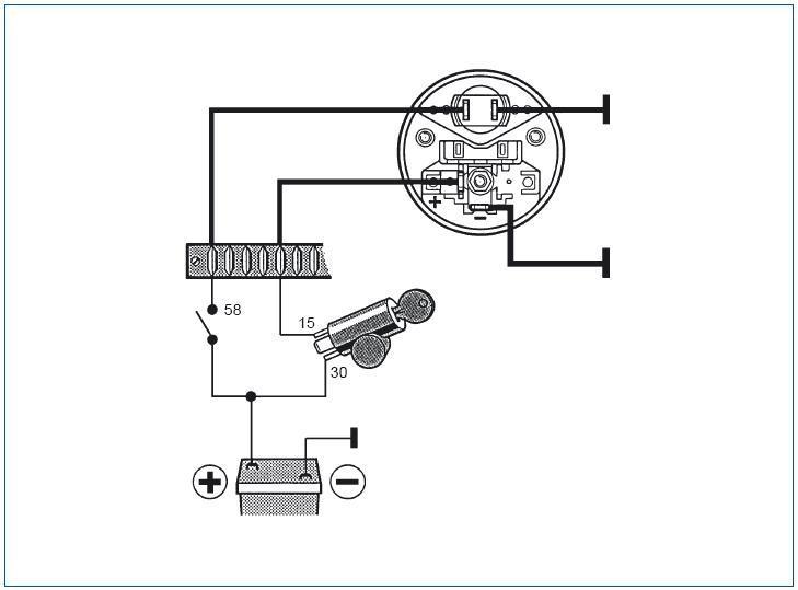 24 Volt Indicatore Carburante da VDO
